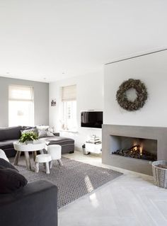natural interior living room fireplace