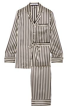 Olivia von Halle | Lila striped silk-satin pajama set | NET-A-PORTER.COM