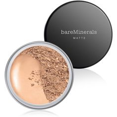 bareMinerals Matte Spf 15 Foundation ($29) ❤ liked on Polyvore featuring beauty products, makeup, face makeup, foundation, light beige, spf foundation, mineral foundation, bare escentuals and bare escentuals foundation