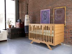 Giveaway to win this beautiful crib by NUMI NUMI. Wired Crib and Changing table Giveaway at Project Nursery.