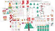 The Christmas Printable Pack for Tots and Preschoolers contains 26 activities focused on skills such as colors, same vs. different, sorting, sequencing, pre-writing, puzzles, mazes, math, and literacy. Several activities have multiple versions so you can tailor the difficulty of the activity to your child's skill level.
