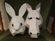 DIY Halloween masks Make your own Horse Mask by MiesmesaBerni