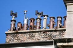 line of old chimneys