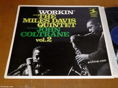 """French LP (12"""") Workin' with the MILES DAVIS quintet / featuring John Coltrane"""