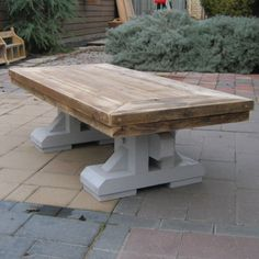 Kloostertafel-model-salontafel 'Aduard' handgemaakt en op maat gemaakte meubelen op www.rustikal.nl