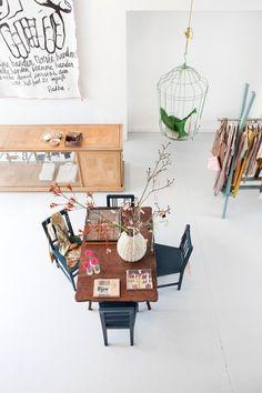 birdcage + clothing rack