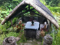 Breakfast in Greens! Hotel Moons Garden (now Lily Pond) in Tagaytay Family Photos, My Photos, Tagaytay, Moon Garden, Lily Pond, Coffee Shop, Philippines, Photo Shoot, Gazebo