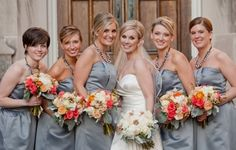 Orange & Gray Modern Elegant Wedding - Lover.ly