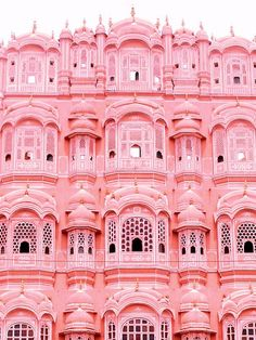 Palais des vents or Hawa Mahal in Jaipur, India. Made for a princess in red and pink sandstone 💕 . For all the girls that dream of a Palace… Photo Wall Collage, Picture Wall, Holi, Pink Palace, Affinity Photo, Pink Photo, Pink Walls, Pink Houses, Everything Pink