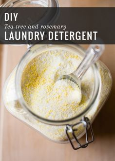 Homemade Laundry Detergent with Tea Tree + Rosemary | HelloNatural.co