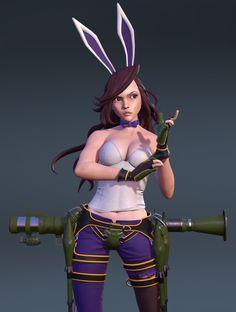 Phunny Bunny, Joe Atilano on ArtStation at https://www.artstation.com/artwork/phunny-bunny