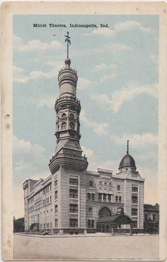Indiana in Postcard c1910 Indianapolis Murat Theatre Building | eBay