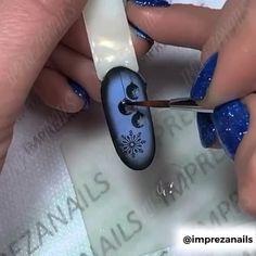 Rose Nail Art, Gel Nail Art, Nail Art Diy, Diy Nails, Acrylic Nails, Xmas Nails, Holiday Nails, Christmas Nails, Manicure Nail Designs