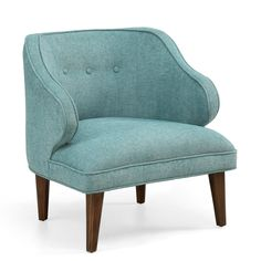 Retro Curved Aqua Arm Chair | Overstock™ Shopping - Great Deals on Living Room Chairs