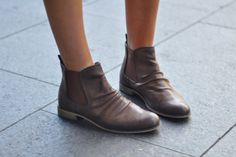 Fall Leather Short Boots
