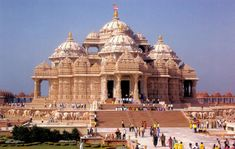 Akshardham Temple - New Delhi, India - Travel Prints and Posters (Reprint on Paper - Unframed) New Delhi, Delhi India, India India, Vacations To Go, Vacation Trips, India Architecture, Religious Architecture, Agra Fort, Amazing India