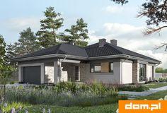 DOM.PL™ - Projekt domu AN KONICZYNKA G2 CE - DOM AO8-58 - gotowy koszt budowy Malaga, Home Fashion, House Plans, Garage Doors, New Homes, Outdoor Structures, Cabin, How To Plan, House Styles