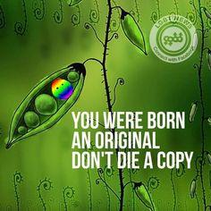 You were born an original, don't be a copy. born this way