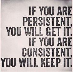 Persistent/consistent