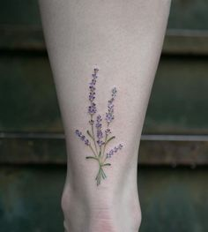 Amazing Lavender Tattoo