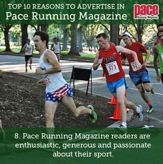 Top 10 Reasons to Advertise in Pace Running Magazine: Number Pace Running, Running Magazine, Number 8, Advertising, Sports, Top, Hs Sports, Sport, Crop Shirt