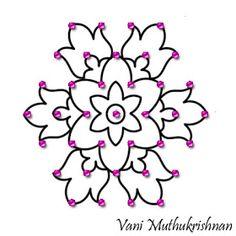 Simple Rangoli Designs Images, Rangoli Designs Flower, Small Rangoli Design, Rangoli Border Designs, Rangoli Designs With Dots, Beautiful Rangoli Designs, Simple Rangoli With Dots, Flower Rangoli, Rangoli Borders