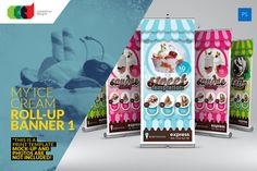 My Ice Cream - Roll-Up Banner by Cooledition on Creative Market