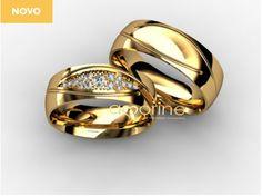 Alianças e anel de noivado - Amorine Jóias