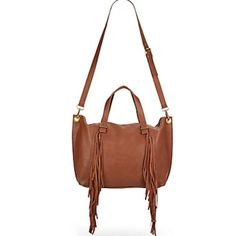 "Large Steve Madden Fringe Crossbody Tote Large, Versatile, Sturdy, Good Quality, Very trendy&fashionable! The color is actually ""cognac!"" Sold Out Item Get it while you can....... Steve Madden Bags Totes"