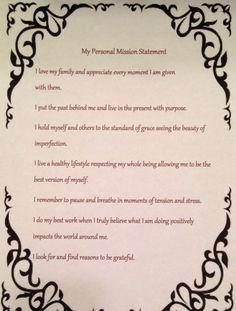 mission statement for college application slideshare