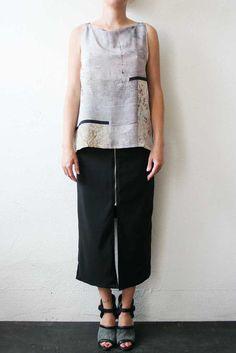 Printed Shirt Silk medium