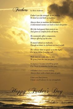 lovely Happy fathers day poem