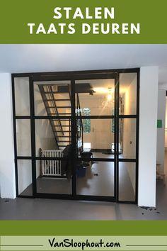 * Stalen taatsdeur * Deze deuren kunnen los van elkaar geopend worden en draaien beide kanten op.  #staal #frame #industrieel #industrieelwonen #trapleuning #stalendeur #schuifdeur #scharnierdeur #interieur #interior #zelfklussen #meubelen #meubelsmaken #tafelopmaat #custommade #maatwerk #tafel #woonkamer #groothandel #hout #woodworking #wood #vtwonen #vtwonenbijmijthuis #industrieelwonen #industrieelinterieur #living #home #woonkamer Loft, Bed, Furniture, Home Decor, Decoration Home, Stream Bed, Room Decor, Lofts, Home Furnishings