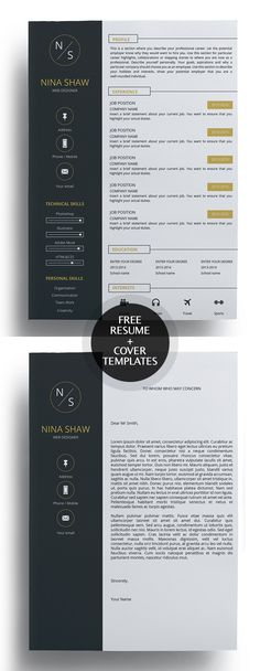Minimal Resume \/ CV \ Cover Letter Template Print Ready Designs - can a resume be 2 pages