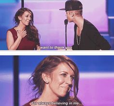 Justin and Pattie...and then the media calls him cold hearted