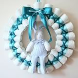 homemade baby gifts diaper wreath