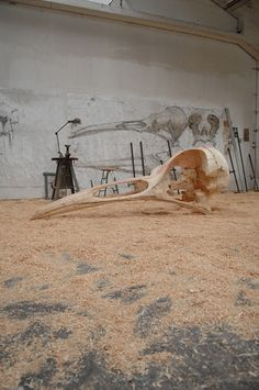 Quentin Garel's studio in Paris #art #sculpture #bdgny
