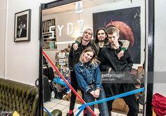 Group portrait of Wolf Alice taken in Cologne, Germany, 11 February 2016. L-R Theo Ellis, Ellie Rowsell, Joel Amey, Joff Oddie.