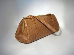 Elbief Ostrich Stamped Leather Doctor Style Bag by HazelRoberts, $35.00