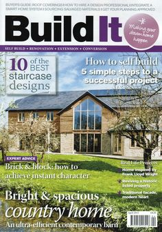 Build It Magazine March 2015 featured our products in the interiors notebook page
