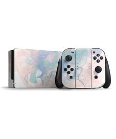 Rose Quartz & Serenity Splatter Pastel - Nintendo Switch Cases Switch Skins & Switch Accessories - Buy Custom Switch Skin Here! Jeux Nintendo 3ds, Nintendo Games, Nintendo Consoles, Nintendo Switch Accessories, Computer Accessories, Leica, Console Style, Video Game Shelf, Choses Cool