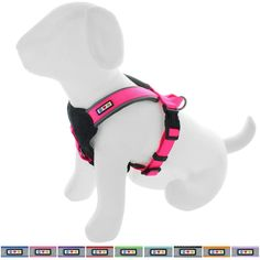 Pawtitas Pet Training Soft Adjustable Reflective Padded Puppy / Dog Harness Small Pink: Using the latest high-end materials, PAWTITASTM products specialize in delivering the highest degree of Safety, Style and Comfort for an important part of your family. Pet Puppy, Pet Dogs, Dogs And Puppies, Dog Cat, Pets, Dressage, Padded Dog Harness, Cute Dog Collars, Dog Leash