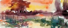 Summer sunset by Mishelangello on DeviantArt Colorful Paintings, Watercolor Paintings, Watercolors, Summer Sunset, Photoshop Cs5, Cool Landscapes, Shutter Speed, Creative Art, Deviantart