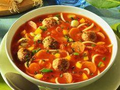 Tomaten-Nudel-Suppe - Diätrezepte mit Hack