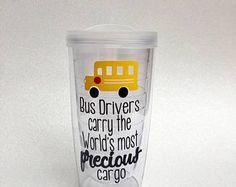 Bus Driver Tumbler / School Bus Driver Gift / Bus Driver