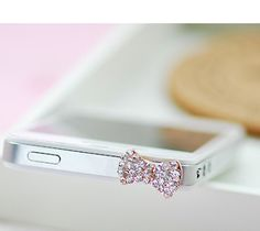 Cell Phone Crystal & Pearl Bow Topper Set (1 Pearl & Crystal bow) + (1 Crystal bow) . Avg $9.95 each !. FREE shipping