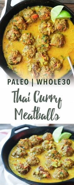 Paleo thai curry meatballs | Empowered Sustenance