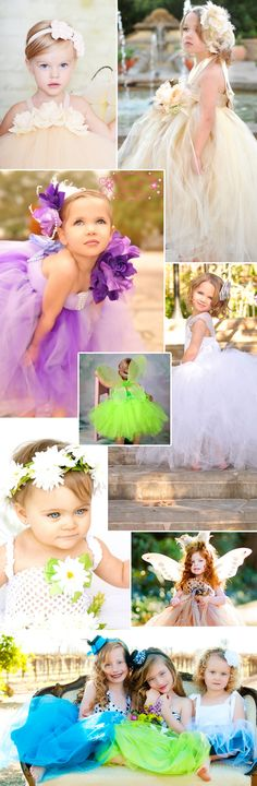 Amazing & fun flower girl dresses.