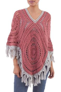 online shopping for NOVICA Ivory Pink Alpaca Blend Poncho, Sunrise Dream' from top store. See new offer for NOVICA Ivory Pink Alpaca Blend Poncho, Sunrise Dream' Hooded Poncho Pattern, Crochet Poncho Patterns, Free Crochet, Knit Crochet, Hand Crochet, Crochet Hats, Shades For Women, Ladies Of London, Clothes Crafts