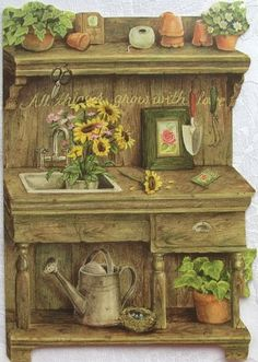 Image detail for -Holly Pond Hill Garden Flowers Workbench Thank You Card